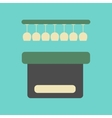 flat icon on background poker pub bar vector image vector image
