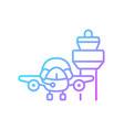 flight dispatch gradient linear icon vector image