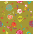 floral garden pattern vector image vector image