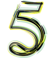 Font NUMBER 5 vector image vector image