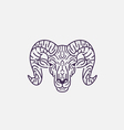 Goat Flat Line vector image vector image