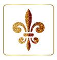 Golden fleur-de-lis heraldic emblem 1 vector image vector image