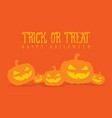 halloween pumpkin background style collection vector image vector image