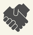 handshake solid icon partnership vector image