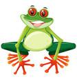 happy cute green frog vector image vector image