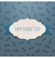 Happy Fathers Day realistic Tag with blue Ribbon