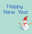 Happy newyear typography greeting card with vector image vector image