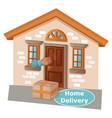 home delivery to door service online order vector image vector image