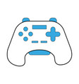 isolated gamepad design vector image vector image