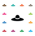 isolated panama icon broad brim element vector image vector image