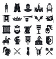 knight icons set simple style vector image