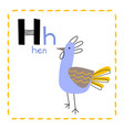 letter h funny alphabet for young children vector image