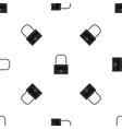 little bag pattern seamless black vector image vector image