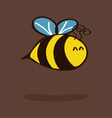Little bee vector image