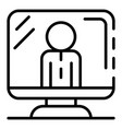 live video blog icon outline style vector image
