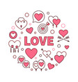 love round creative or design vector image vector image