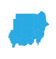 map of sudan high detailed map - sudan vector image