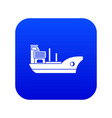 marine ship icon digital blue vector image vector image