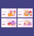 morning people backgrounds set vector image