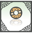 outline sweet donut icon Modern infographic logo vector image vector image