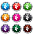 parent and child hands together set 9 collection vector image vector image
