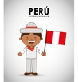 peru kid vector image