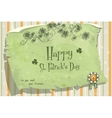 postcard to day stpatrick vector image vector image