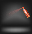 red spray isolated vector image vector image