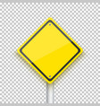 Road Sign Realistic EPS10 Yellow vector image vector image