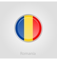 Romanian flag button vector image vector image