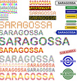 Saragossa text design set vector image vector image