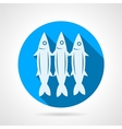 Sardine flat round icon vector image vector image