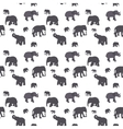 Seamless Pattern of Elephant vector image vector image