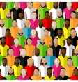 seamless pattern with men crowd flat of men vector image vector image