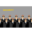 Security Bodyguard Pattern of men in glasses vector image vector image