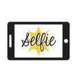 selfie photo vector image vector image