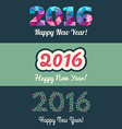 Set of Website Banners with 2016 Happy New Year vector image