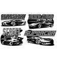 set sports car templates for stylish badge vector image vector image