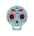skull art mexican culture icon graphic vector image