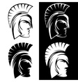 spartan warrior set design template vector image