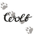 the paw print of a wolf vector image vector image