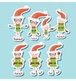 the playful Santa elves vector image