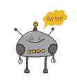 the robot is funny boat says artificial vector image