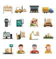 Warehouse Icons Flat vector image
