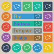 Web stickers icon sign Set of twenty colored flat vector image vector image