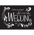 Wedding invitation wording vector image