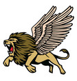 winged lion heraldic flying vector image vector image