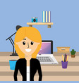 woman at office vector image vector image