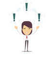 woman with a exclamation mark vector image