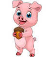 young funny little piggy vector image vector image